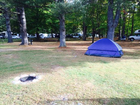 Thornton, NH: Tent site w/ fire ring