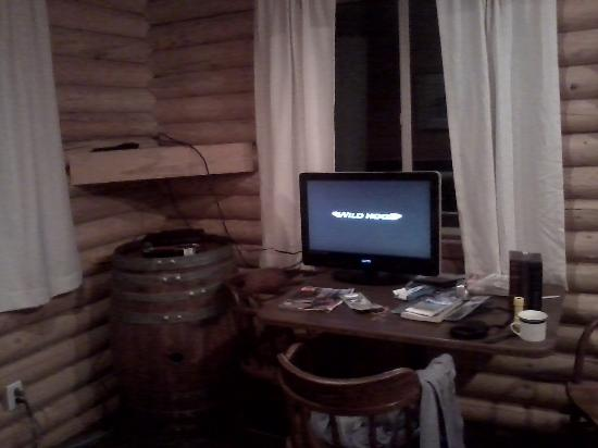 Kooskia, ID: TV (we moved it so we didn't have to crick our neck to see)