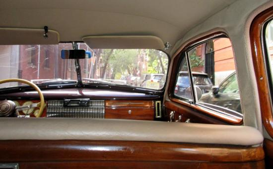 Antique Limousine - Boston Tours : Interior of the car