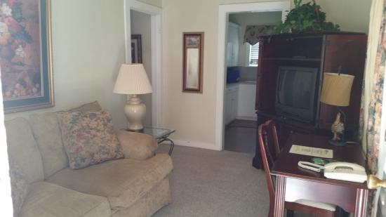 Rockdale, TX: the living room of the one bedroom apartment