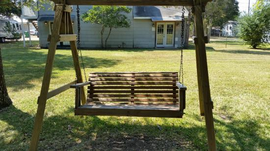 Rockdale, TX: one of the outdoor seating options