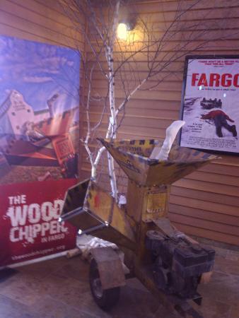 Fargo-Moorhead Convention & Visitors Bureau: Wood chipper like in the movie Fargo