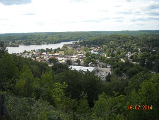 Skyline Park, Haliburton Ontario View of Haliburton  Village and Haliburton Highlands landscape