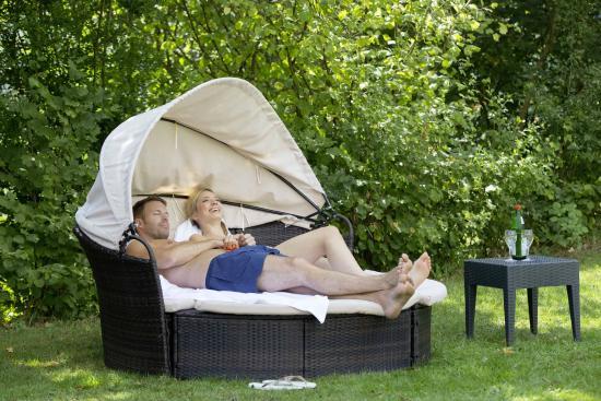 Relax Liege Im Hotel Garten Picture Of Hotel Pfalzblick Dahn