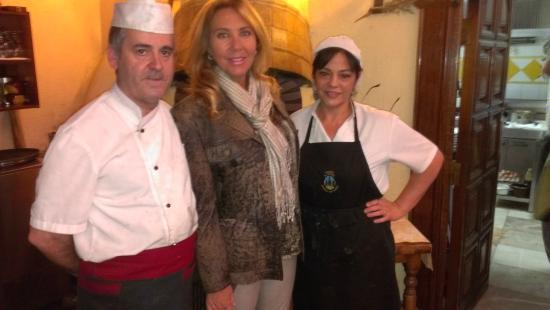 Asador El Cipres: Norma Duval nos visita, con Rufino y Angeles