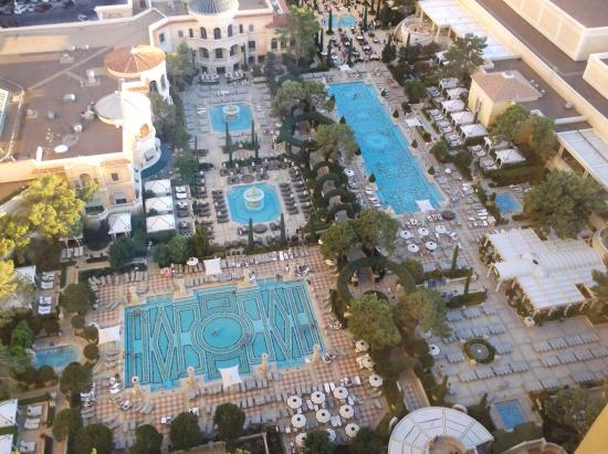 Pool garden view from room 26104 picture of bellagio las for Pool show las vegas 2015