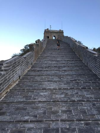 Commune by the Great Wall: A watch tower at the top of a steep section