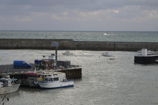 vu de la chambre sur le port h 244 tel de la marine picture of hotel de la marine port en bessin
