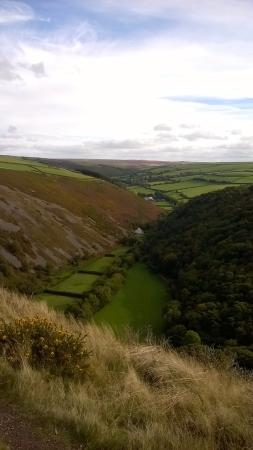 Exmoor National Park, UK: Over looking the Doone valley
