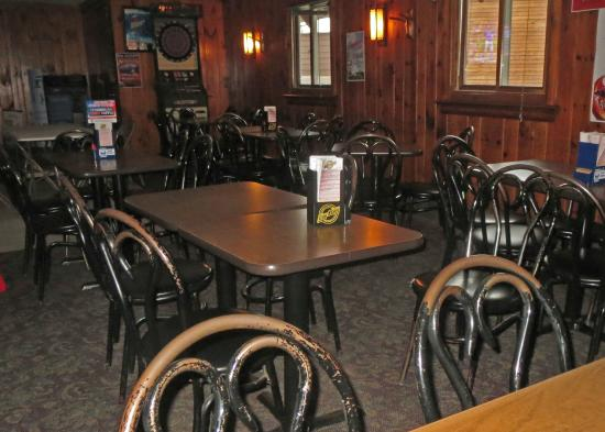 Talley's Log Cabin Bar: Table Seating