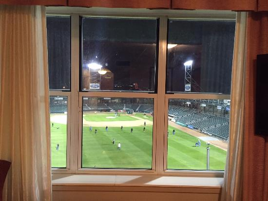 The View From The Back Of The Hilton Garden Inn Nh Fisher Cats Stadium Picture Of Hilton