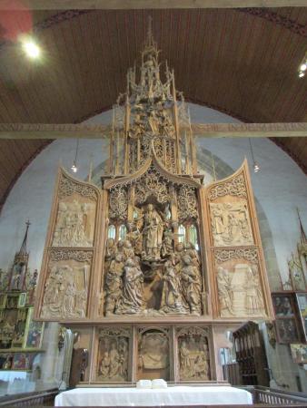Creglingen, Deutschland: het unieke houten altaar.