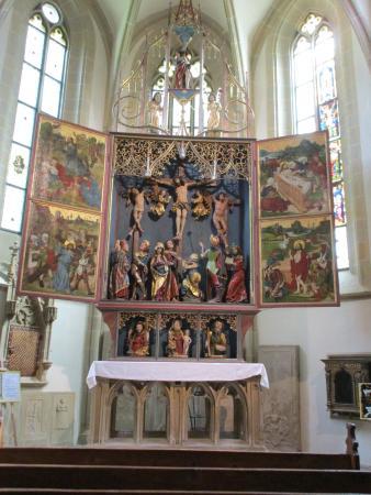 Creglingen, Deutschland: nog een ander zij-altaar in de kerk.
