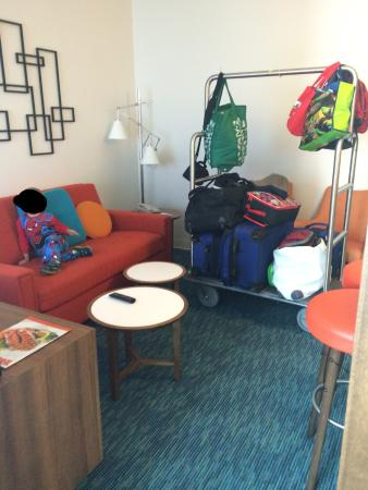 Universal S Cabana Bay Beach Resort Family Tower Suite Living Room Area
