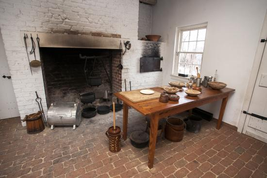 Reconstructed kitchen at Point of Honor