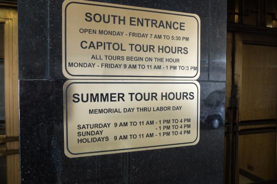 State Capitol Building: Sa/Su after Labor Day Closed
