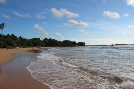 Bentota, Sri Lanka: Южная сторона пляжа