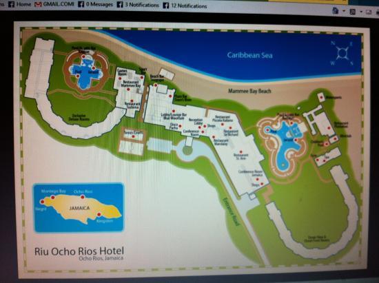 Map of RIU Picture of Hotel Riu Ocho Rios Ocho Rios TripAdvisor