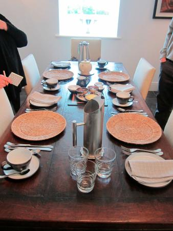 Dining room table for breakfast