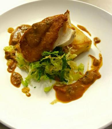 The Pier Cafe: Chicken supreme, rosti potato, sautéed savoy cabbage ...