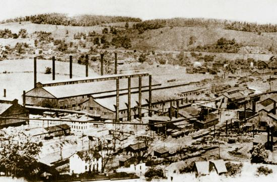 Coatesville, Пенсильвания: View of Lukens Steel Company around 1900