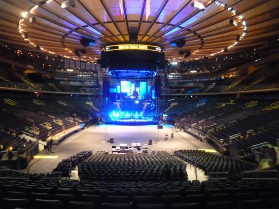 Concert being prepared Picture of Madison Square Garden New