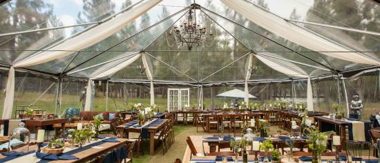 Graeagle, CA: Wedding Tent on our 9-hole Golf Course