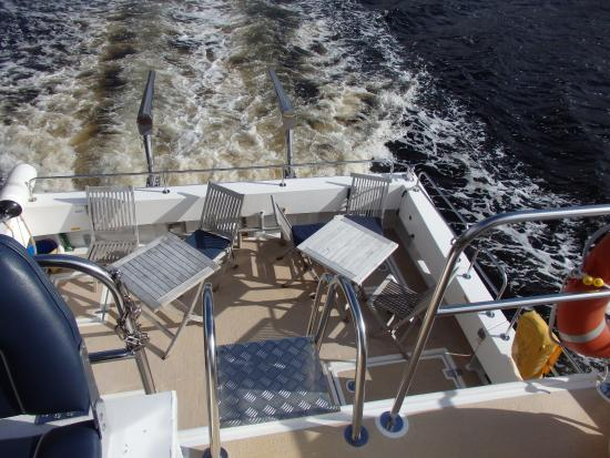 Shieldaig, UK: Rear deck nicely set out to sit at and relax