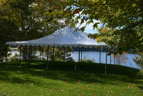 Inn on Newfound Lake: Inn at Newfound - Tent on garden lawn