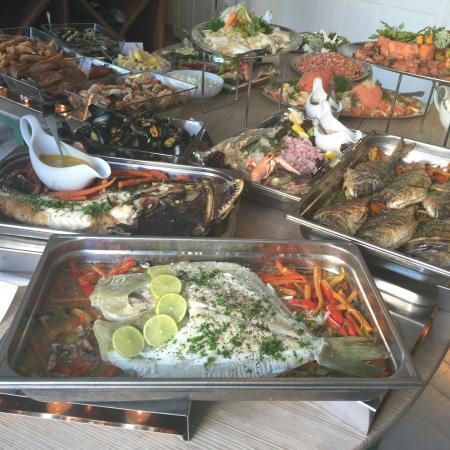 Laesoe Island, เดนมาร์ก: Fiskebuffet