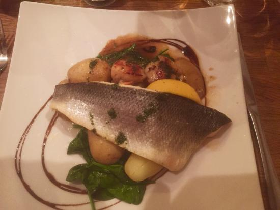 Grilled Seabass with Seared Scallops