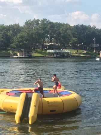 Log Country Cove: Water Trampoline