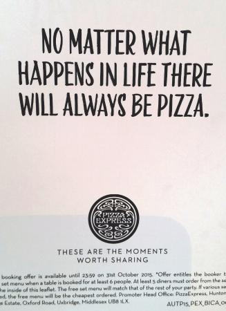 Frase Simpatica Picture Of Pizza Express Northallerton Tripadvisor