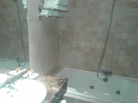 Baños Con Torre Ducha:en nuestro caso con ducha e hidromasaje): fotografía de Hotel Torre