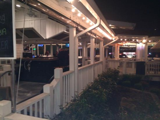 Outside bar and patio picture of dixie fish co for Dixie fish company