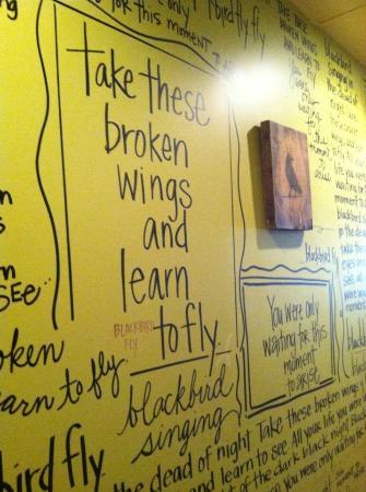 Blackbird Woodfire: written on the walls