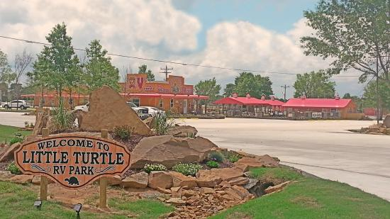 Eufaula, OK: On site management welcomes all to tour thru Little Turtles parks and pools.