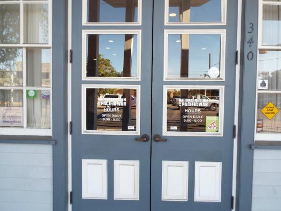 National Museum of the Pacific War: Front Doors - Nimitz Museum - Main Street