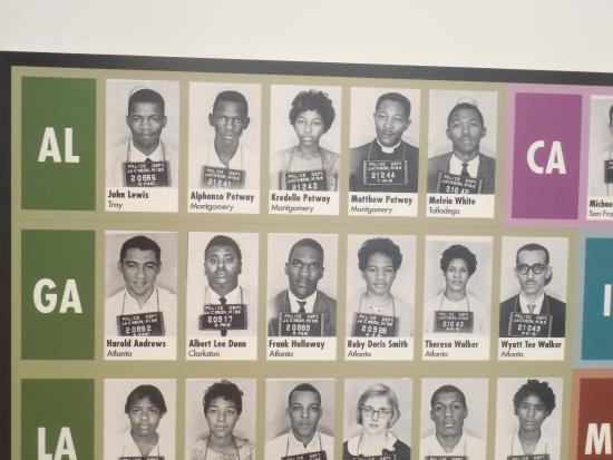 Montgomery, AL: Closeup of those who were arrested in Jackson, MS, including future Congressman, John Lewis.