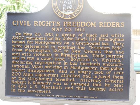 Montgomery, AL: Historic marker outside museum.
