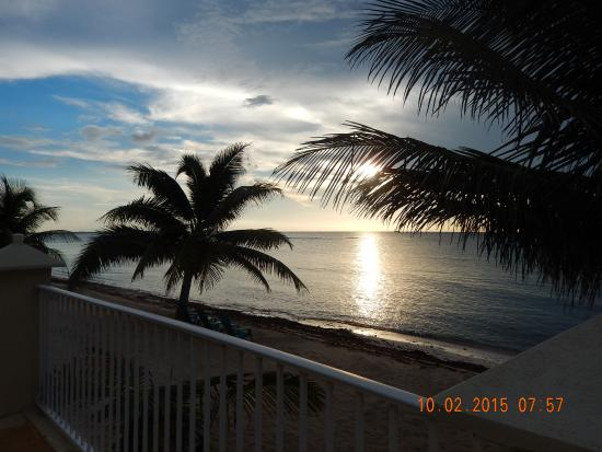Bodden Town, Grand Cayman: the view from the condo