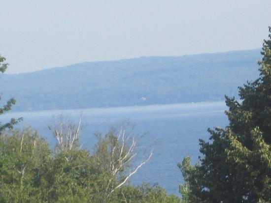 AmericInn Petoskey: view from front parking lot of super 8
