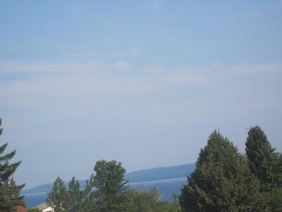 AmericInn Petoskey: view from super 8 parking lot