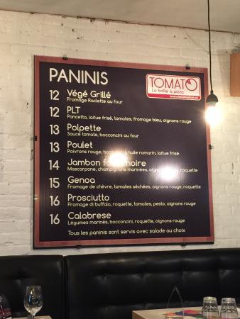 Tomato La Boite a Pizza: Nice service, reasonable food