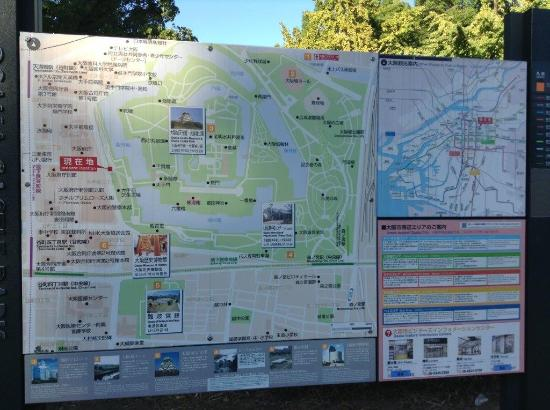 Osaka castle park map Picture of Osaka Castle Osaka TripAdvisor