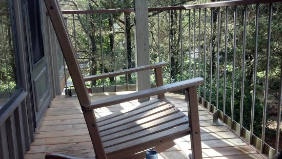 Salishan Lodge and Golf Resort Spa: Great Porch for Talks