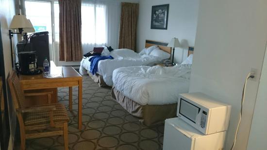 Riviera City Centre Inn: Double beds motel room. Clean, comfy, renovated. Will stay here again.