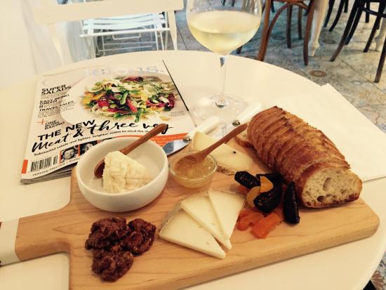 The Cheese Store of San Diego Happy hour cheese plate and a glass of wine & Happy hour cheese plate and a glass of wine! - Picture of The Cheese ...