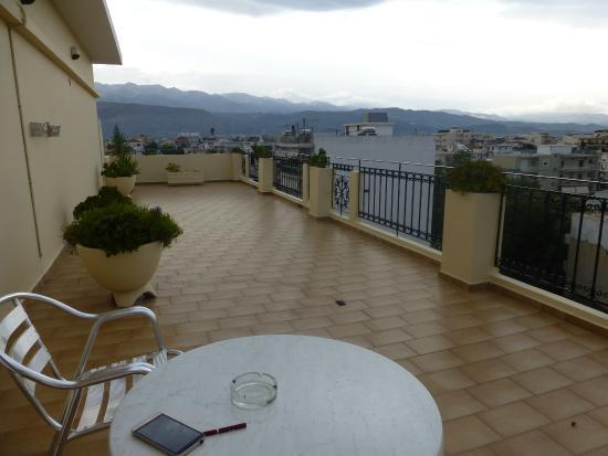 Nefeli Hotel: view towards Southwest (rain approaching)