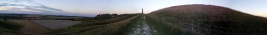 Cherhill White Horse and Monument: Evening ascent